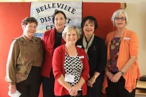 Fall Gathering Organizing Committee: Marylea Burtt, Mary Hall. Susan Pine, Martha Grant, Lee Casselman. Absent from photo: June Boudreau, Ann Lanning