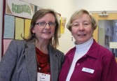 Mature Student Scholarship Recipient, Linda Joyce with Assistant Treasurer, Mary Milne