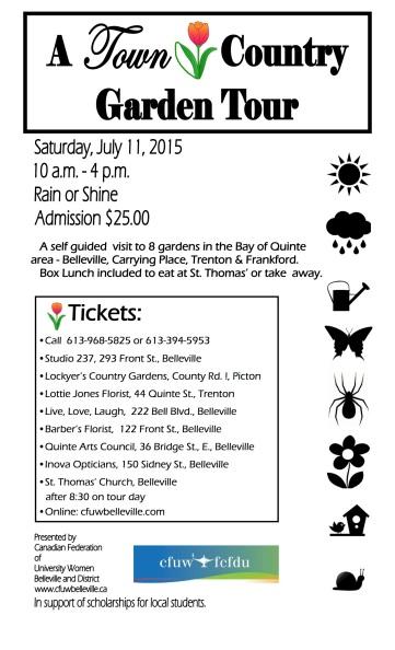 CFUW Garden Tour 2015 Poster