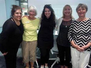 Marisa Dragani, Loyalist; Penny Hendricks, CFUW; Robin Pierro, JHR; Katrina Cross and Marilyn Jackson, CFUW